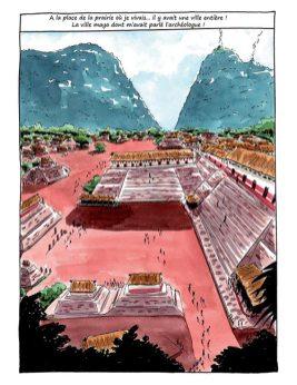 Le voyage de Santiago - Reconstitution du site Raxruha Viejo en 600 apr. J.-C.