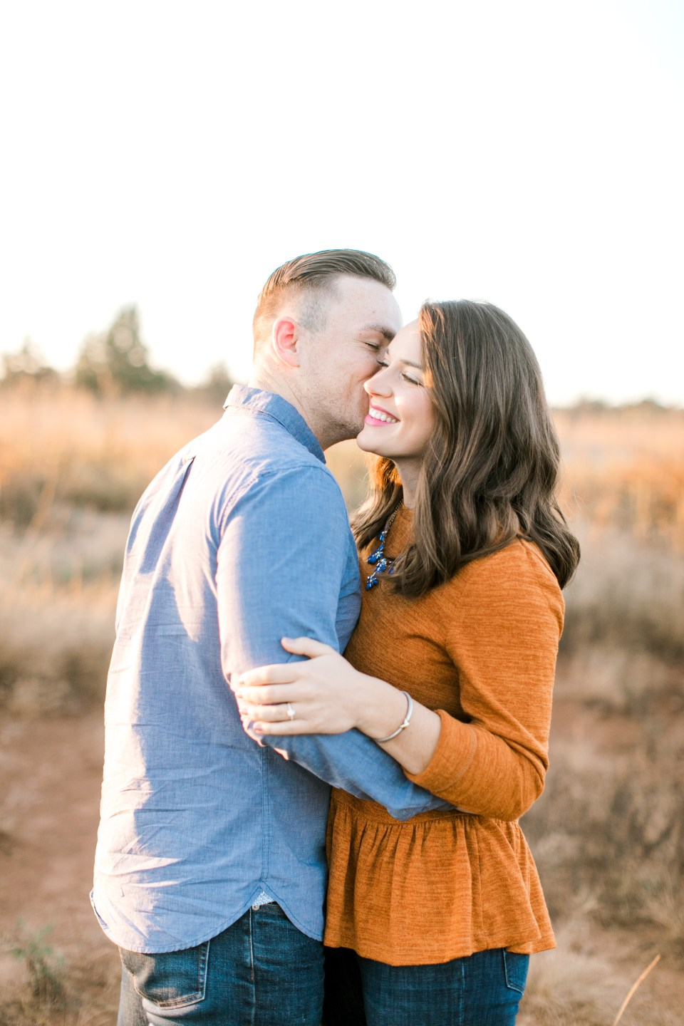 fall rustic oklahoma engagement