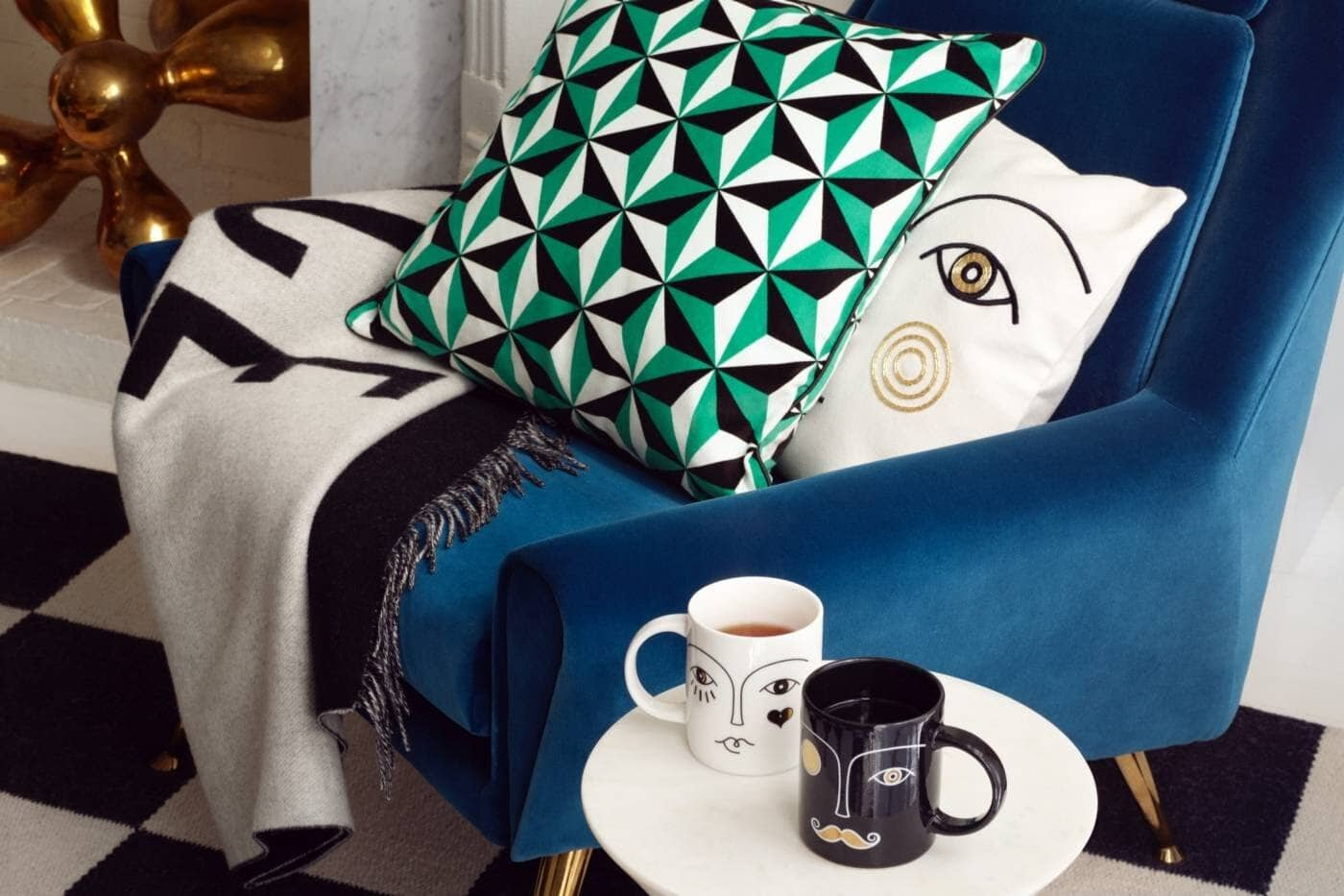 interior, interiors, interior design, interior design trends, trends, 2020, 2020 trends, rattan, faces, jewel tones, ribbed furniture, design, colours, colors, colour trends, chair, homewares