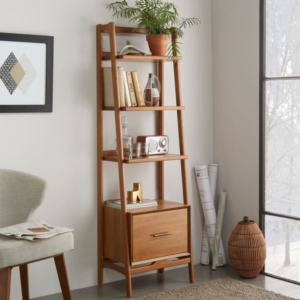 Mid-century Bookshelf  from West Elm