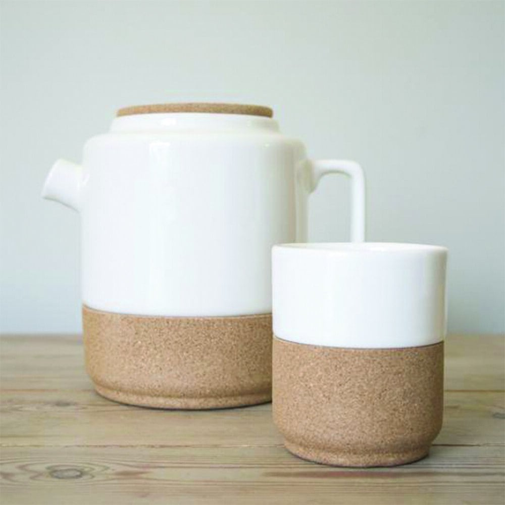 ceramic teapot and tea/coffee mug from noteworthy style