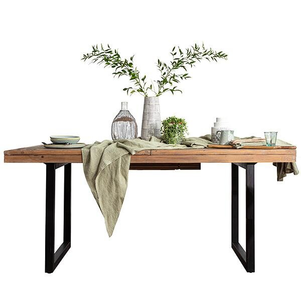 Stanford reclaimed wood extendable dining table - Modish Living