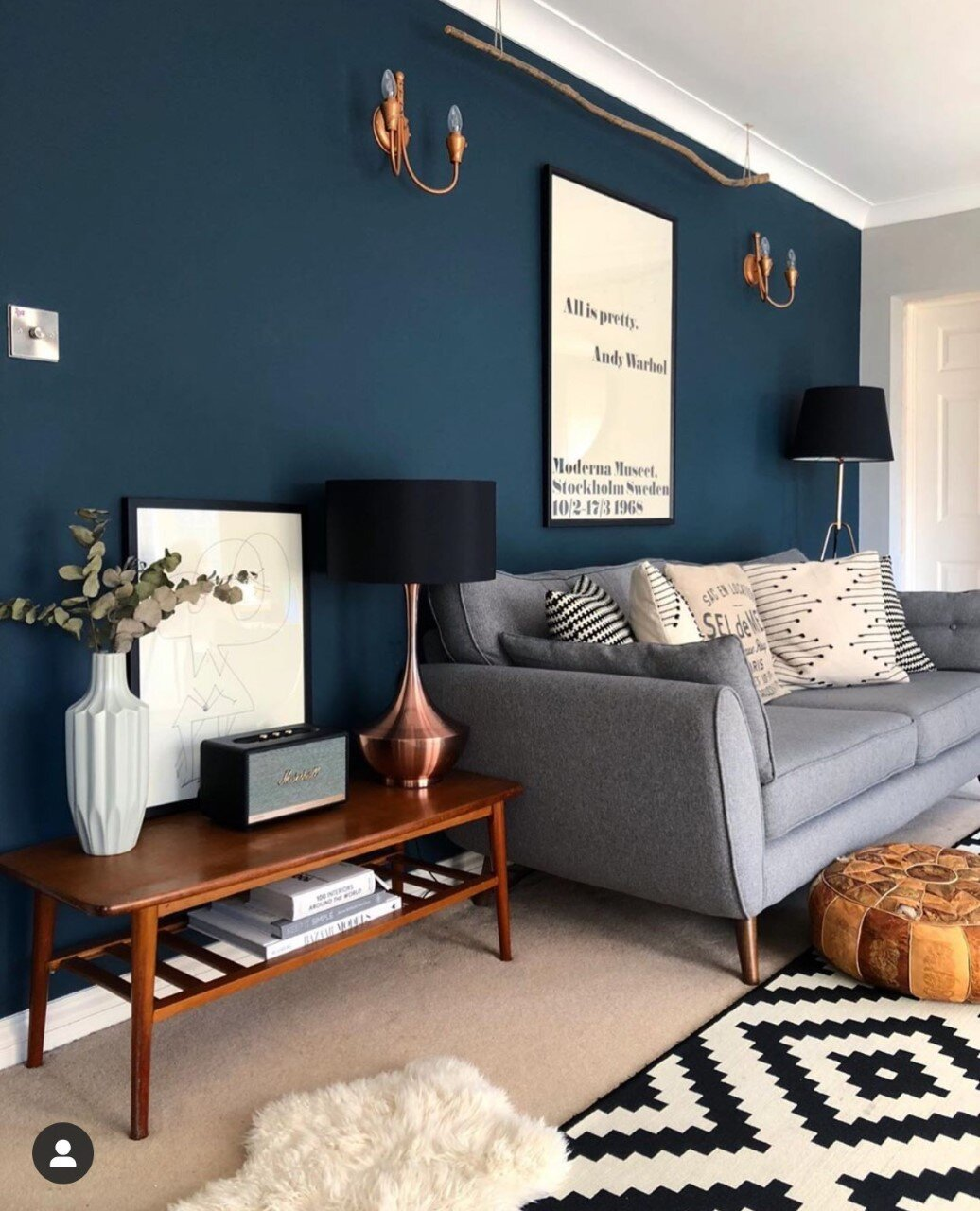 It's the same colour! Hague Blue in the living room. Instagram:  @nest_twenty_eight