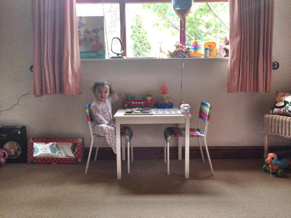 our old playroom in our rented property
