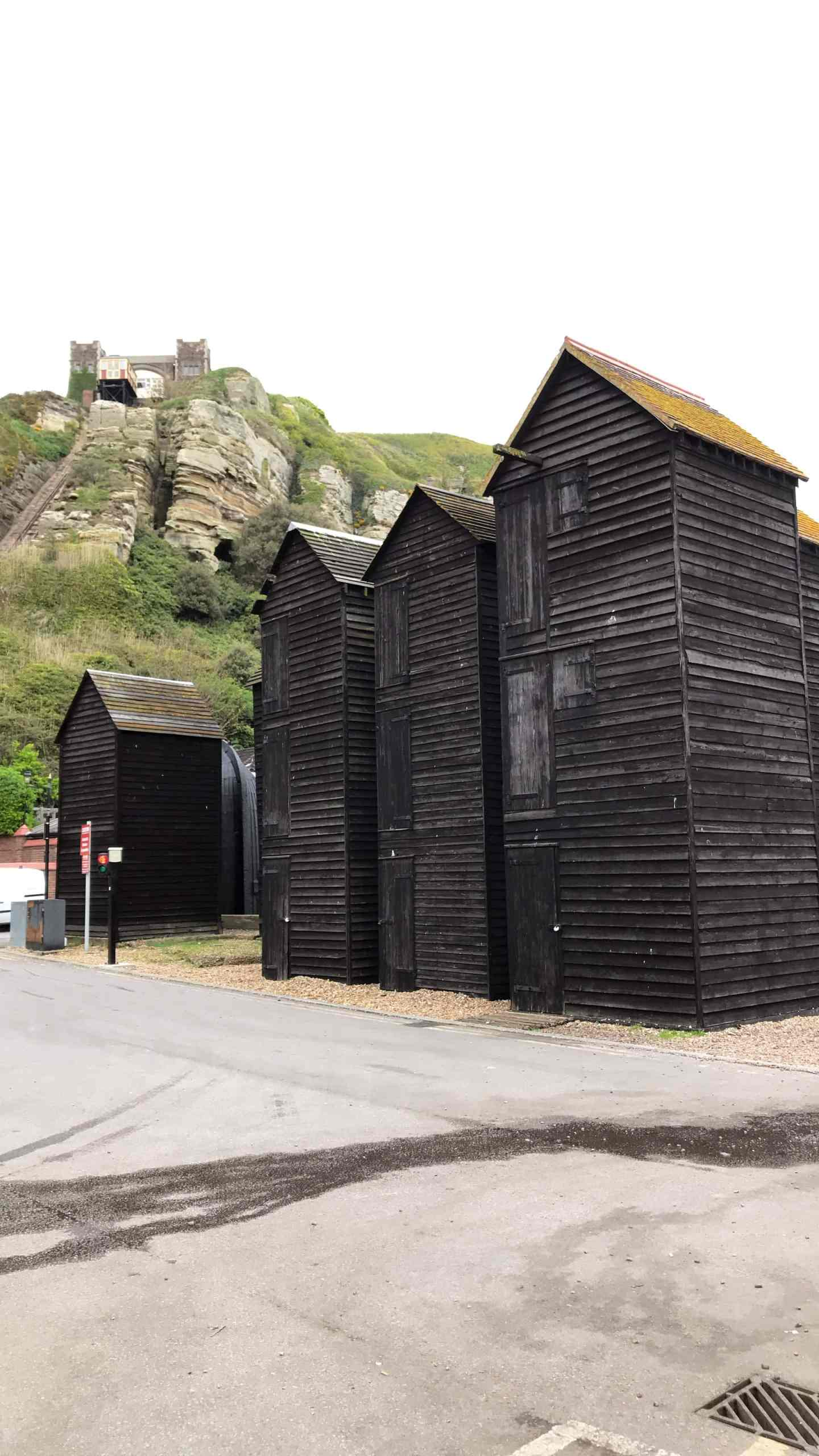 The Grade II listed Net Shops which were originally used to keep equipment for the fishing fleet