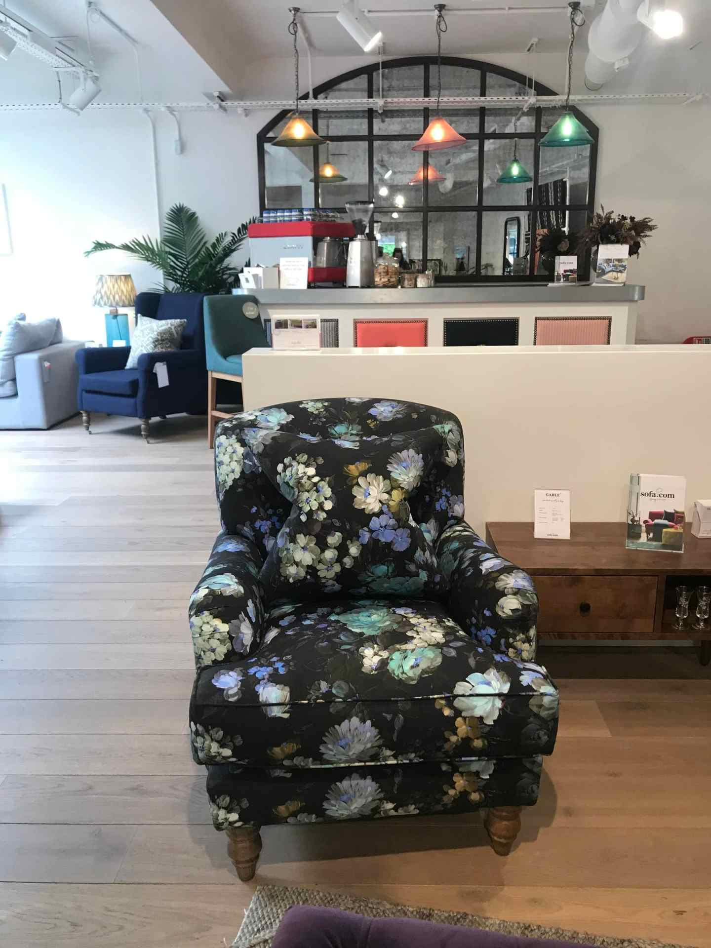 And this  Snowdrop armchair  in the new sofa.com fabric - Periwinkle - complimented the plum sofa perfectly. So much so, I started questioning my whole colour scheme in the living room!