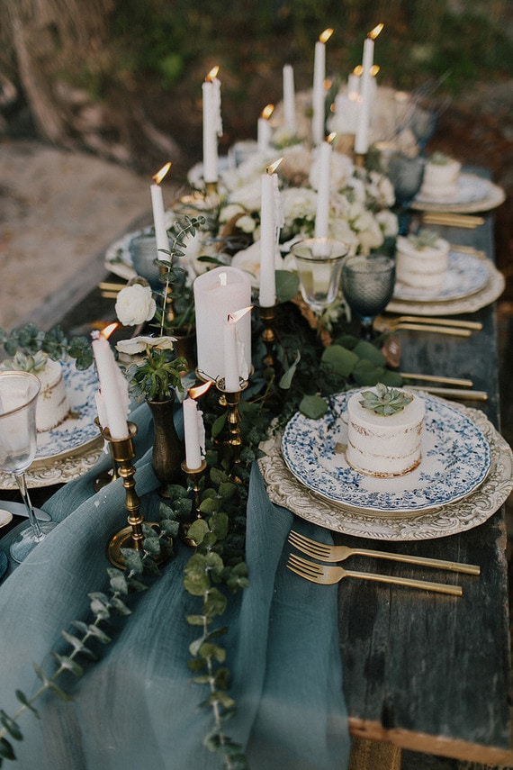 a very rustic table setup