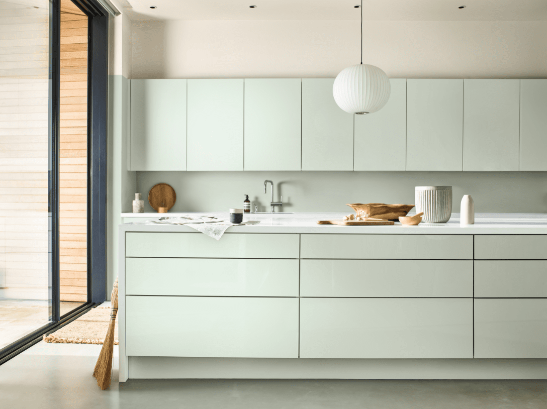 Kitchen units in Tranquil Dawn