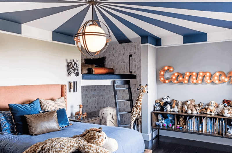 A circus inspired childs room Credit:  Lizette Marie Interiors