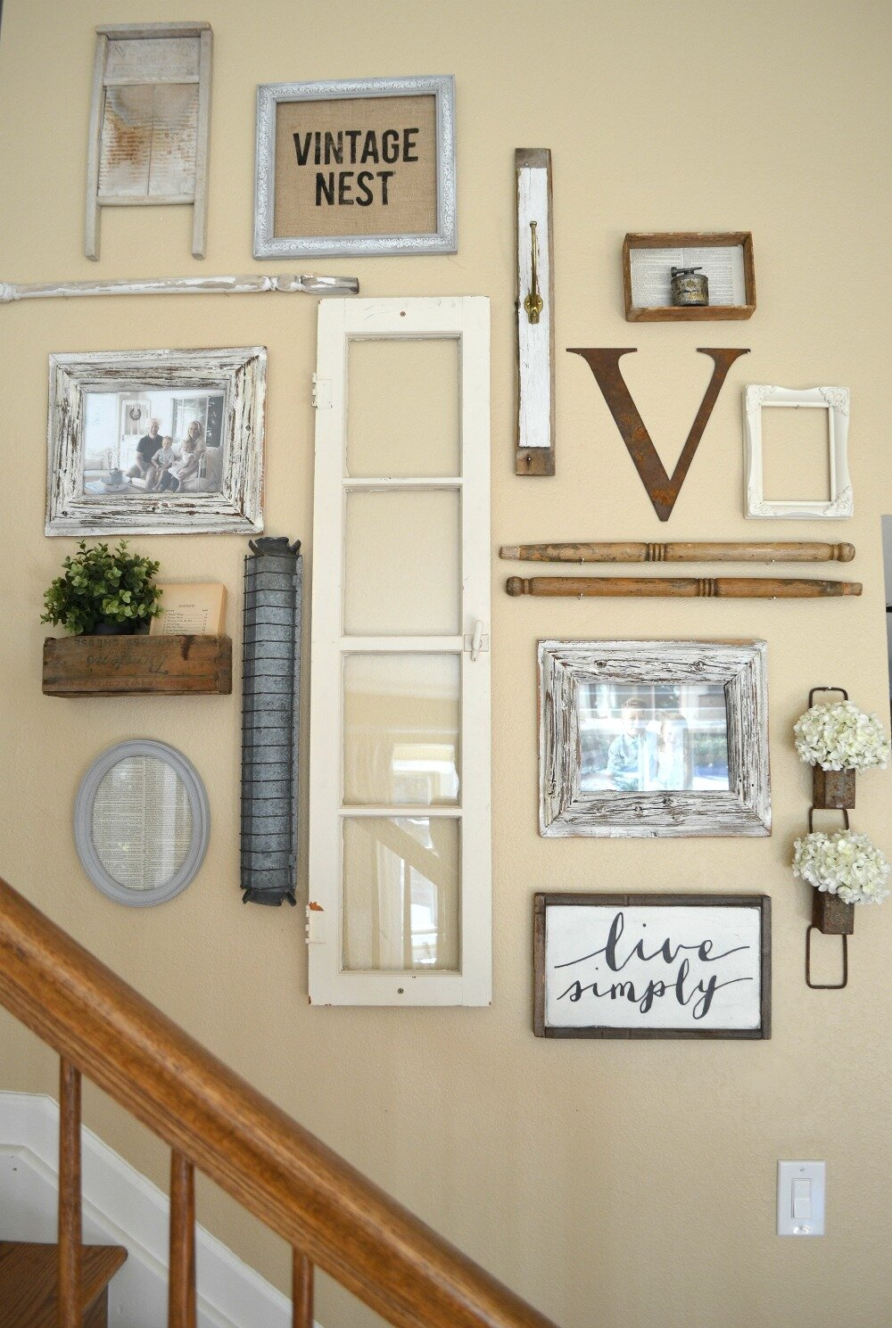 You can even create a completely bespoke gallery wall of objects you have collected over the years. Personally I think letters work really well in gallery walls as it helps to break them up a bit! Credit: sarahjoyblog.com
