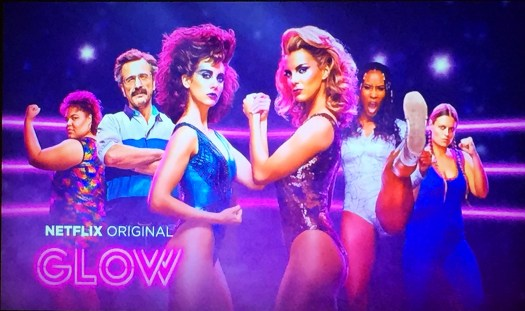 Promo picture for Glow, a Netflix TV series.
