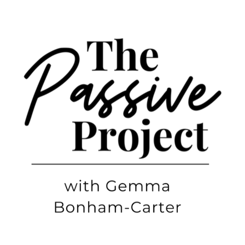 Black logo for The Passive Project Podcast