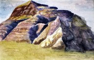 Castle Butte, Big Muddy Badlands, Saskatchewan III, 2014 Watercolor, pencil on paper