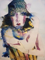 Gloria Swanson, 2013 Watercolor, ink on paper 11×14