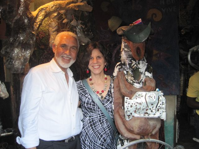 Philippe Dodard and me at Gyode's studio.