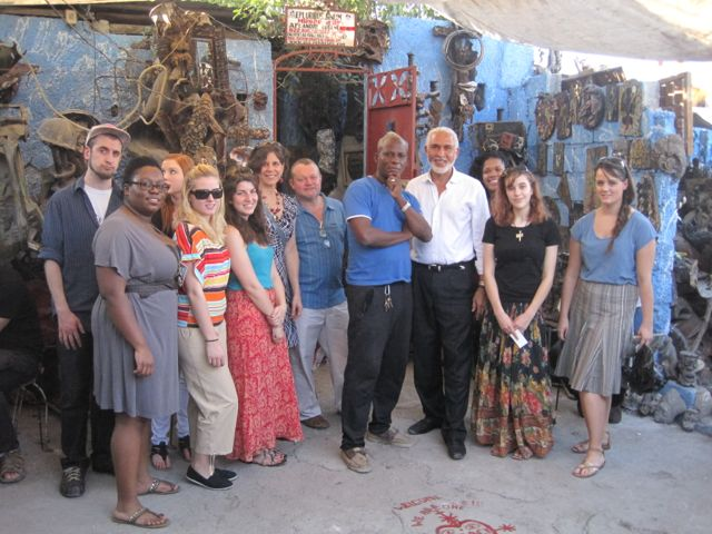 All of us at Eugene Andre's studio in the Grand Rue.