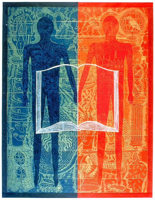 John Buck, Fact and Fiction, Color Woodblock, 1997