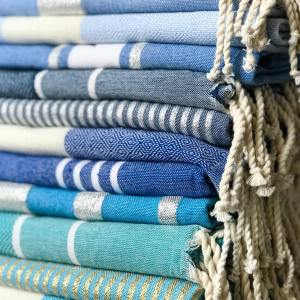 fouta tissage plat coton recycle