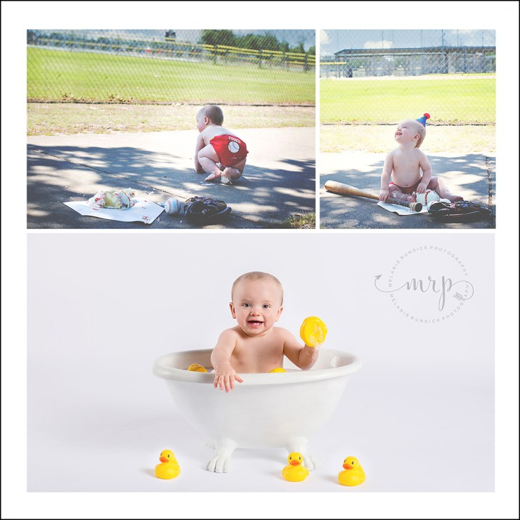 cake smash and aftermath bath session Jonesboro Family Photographer