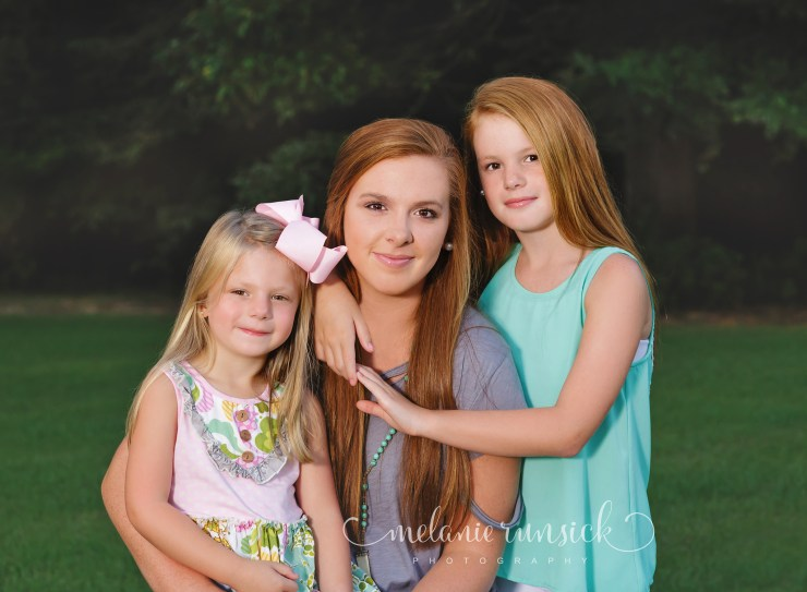 Outdoor family portrait session Jonesboro Arkansas Photographer Melanie Runsick