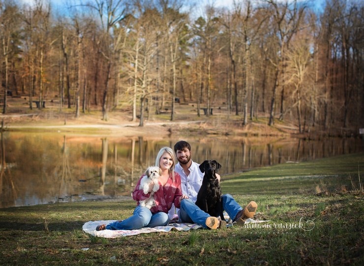 Melanie Runsick Photography Surprise Engagement Session Craighead Forrest Park Jonesboro Arkansas