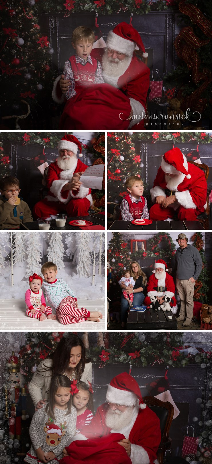 Jonesboro AR cookies with Santa Christmas session Melanie Runsick Photography Winter White Christmas Minis
