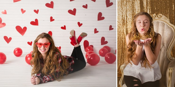 Jonesboro AR Portrait Photography Melanie Runsick Photography Valentine's Day Mini Sessions in the studio