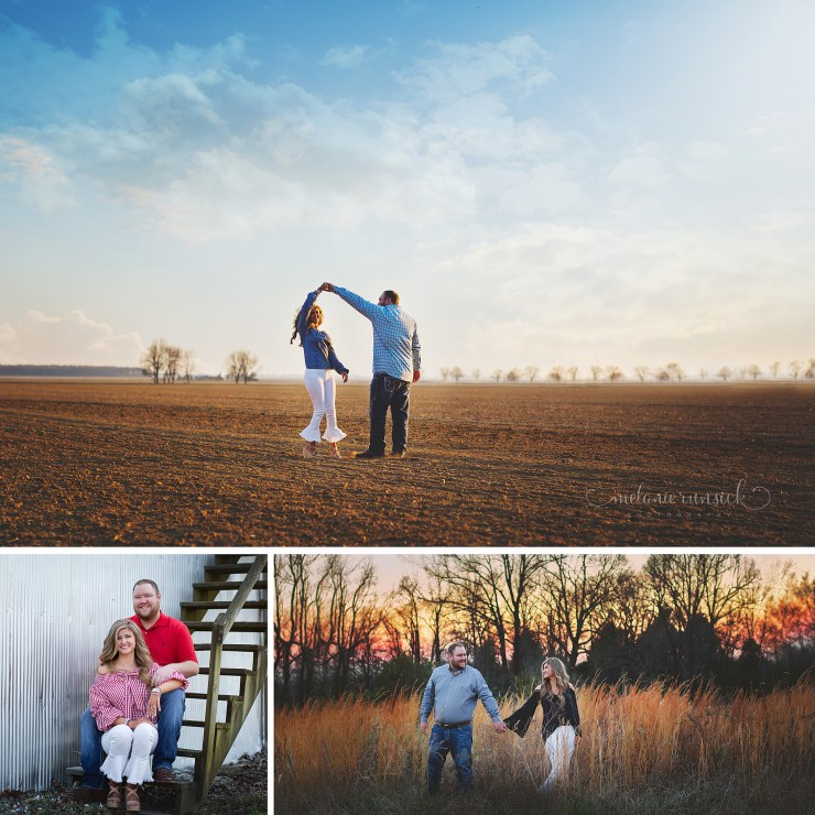 Northeast Arkansas On Location Portrait Photographer Melanie Runsick Photography Engagement Session