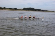 rowing to the start