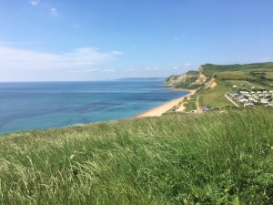Stunning View of Eype from West Bay