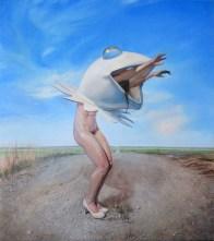 Frog Ballet (12-2014) oil on panel 14 x 17 in.