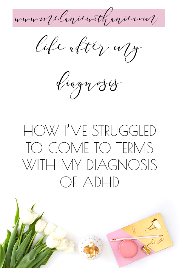 Struggling with my ADHD diagnosis (Pinterest)