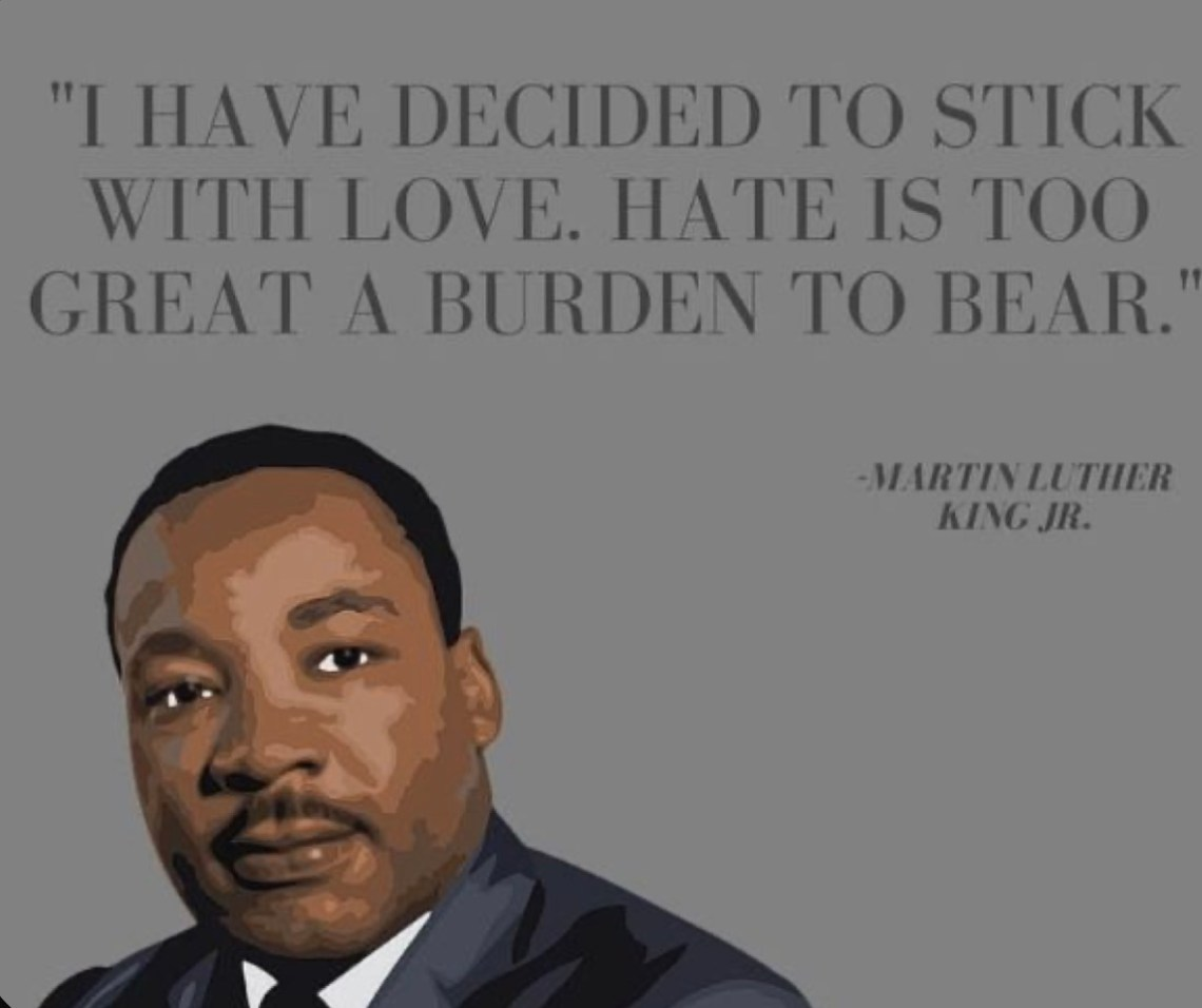 """Download Quote: """"I have decided to stick with love. Hate is too ..."""