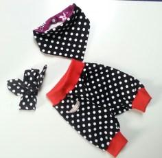 Mel.Anni's handmade Pumphose mit Halstuch und Stirnband