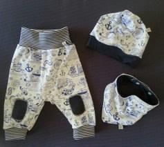 Mel.Anni's handmade Pumphose mit Beanie und Halstuch