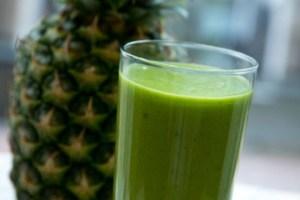 smoothie verde per pranzo