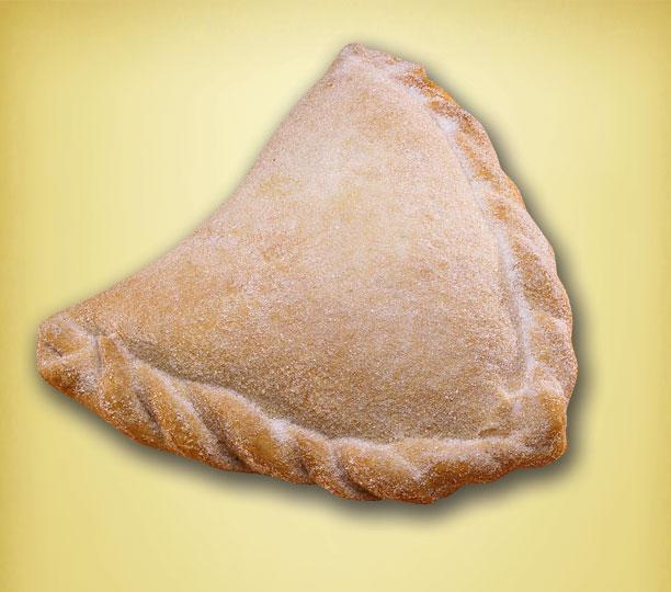 Empanada dusted with sugar= Empanadas= turnovers