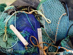 Love the colour and texture of the old fishing nets