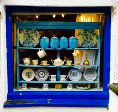 Lovely Blue shop beside the seas