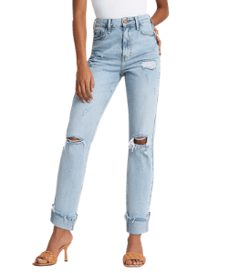 River Island Ripped Jeans Mom Style