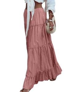 Ultamoden Ruffle Tiered Pink Maxi Skirt 250x300 blog minis template