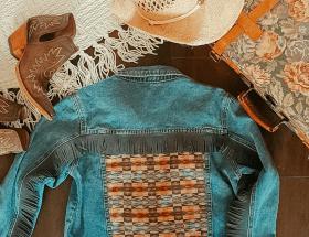 Western fringe jacket, bohemian fashion, festival outfits