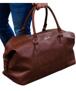 Classic Personalised Nuhide PU Leather Weekender Holdall Bag, Perfect Gift Idea For Him This Christmas, Birthday Or Father's Day