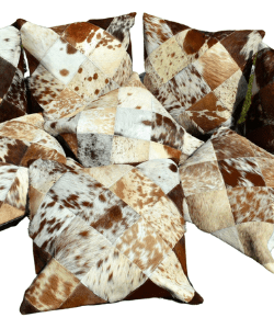 Natural Cowhide Pillow Covers | Patchwork | Real Cow Hide Pillow Cases | Hair on Leather Cushion Covers