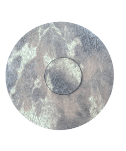 Luxury Faux Cowhide Faux Fur Placemats Coasters Textured Metallic Pattern To Order Modern Decor Round Placemats Circle Placemats Table Set