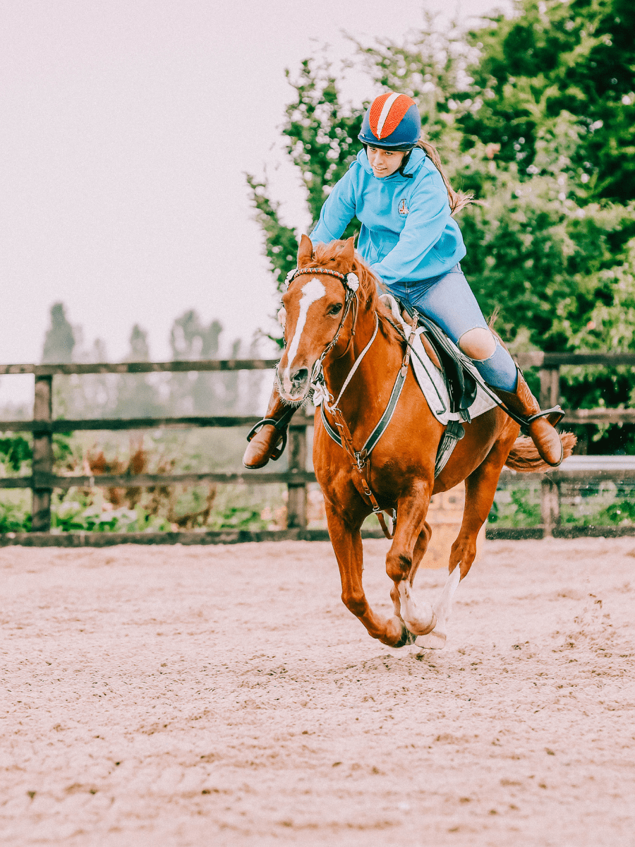 Barrel racing and western style