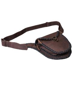 Leather hip bag fanny pack, belt bag vintage leather design, western style