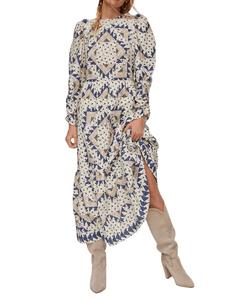 Anthropologie Othilia Patchwork Maxi Dress
