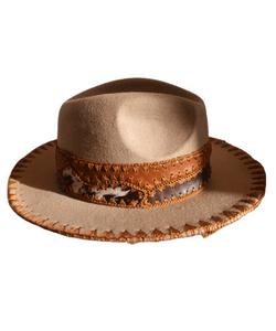 Fedora Cowboy hat Handmade Leather band