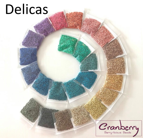 Cranberry Beads Delicas